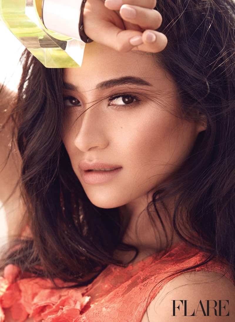 Shay Mitchell gets her closeup in the May issue of FLARE Magazine