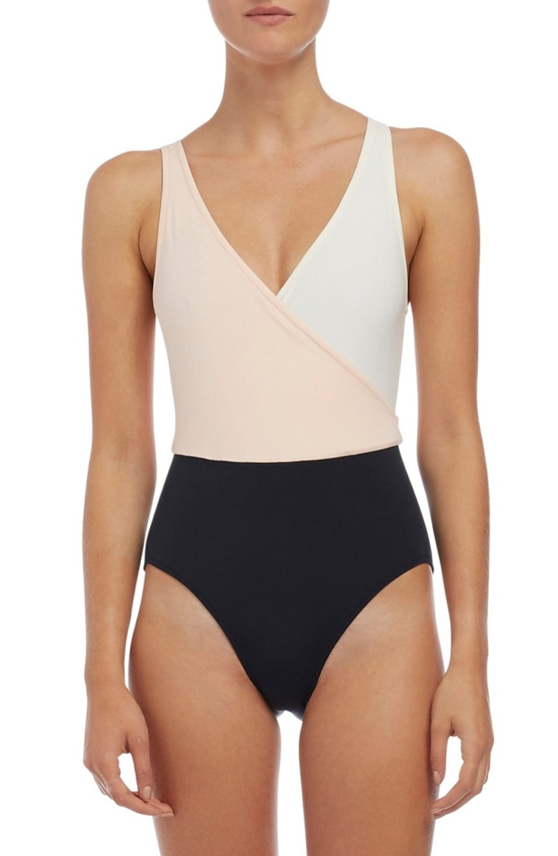 Solid & Striped Ballerina Colorblock One-Piece Swimsuit