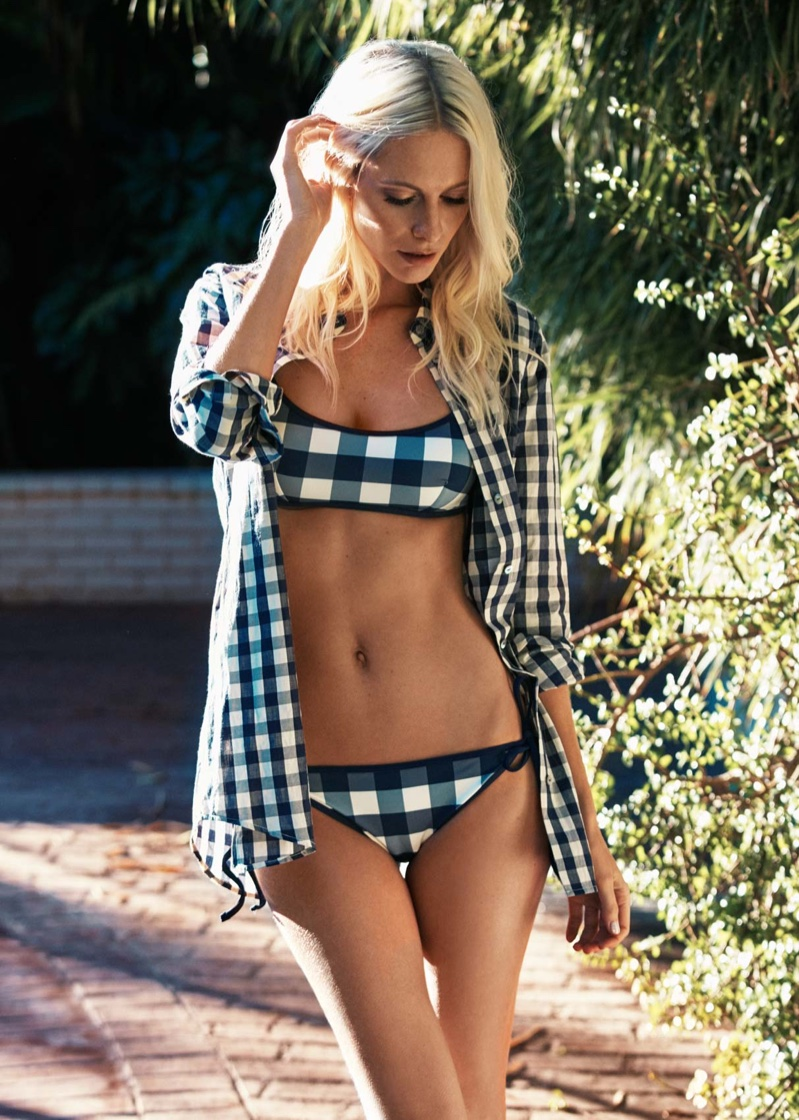 Poppy Delevingne collaborates with swimsuit brand Solid & Striped on a beachwear collection