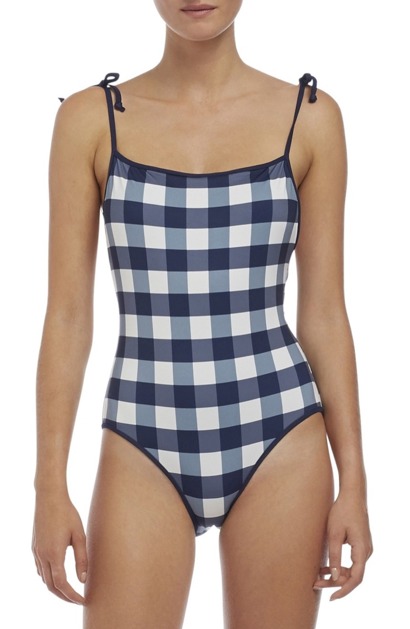 Solid & Striped Poppy Gingham One-Piece Swimsuit