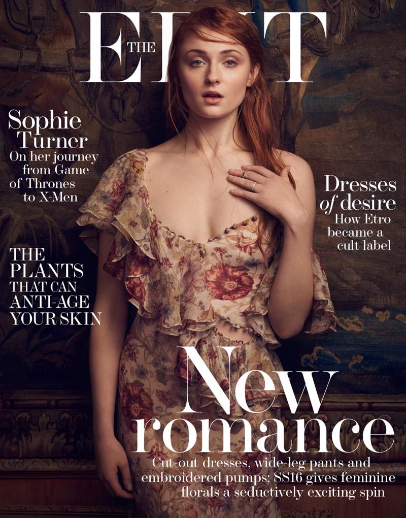 Sophie Turner on the Edit April 14, 2016, Cover