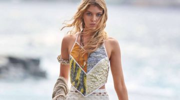 Stella Maxwell Models the Ultimate Beach Fashions in ELLE France