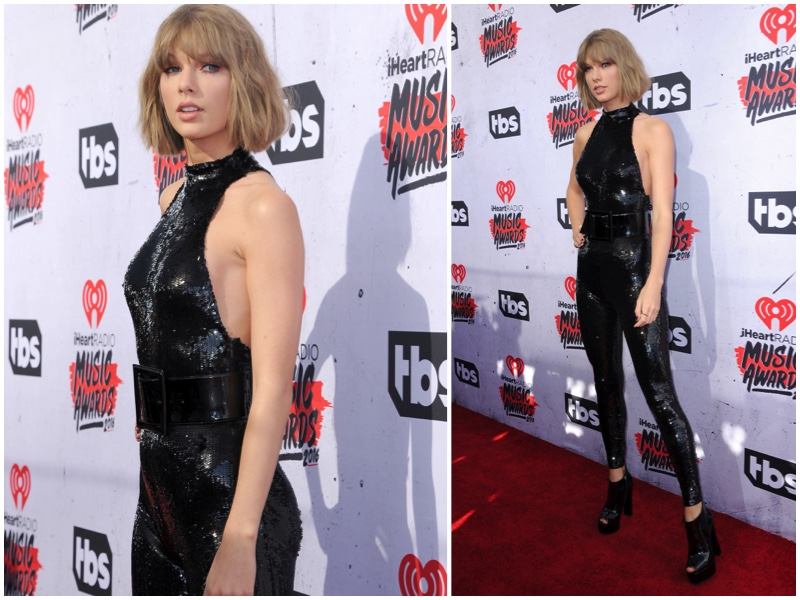 Taylor Swift Style Saint Laurent Sequin Jumpsuit Iheart Radio