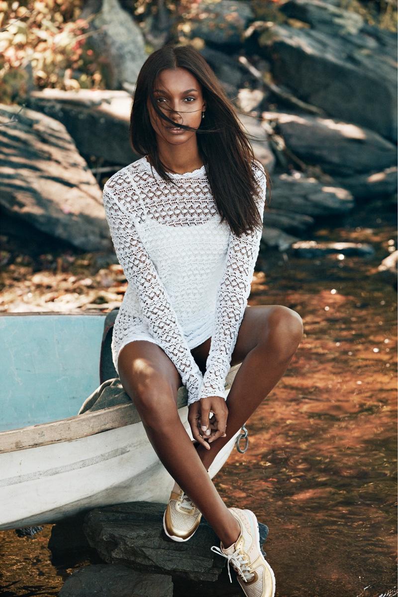Jasmine Tookes models UGG® Deaven Sneaker