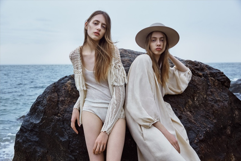 Photographed by Yelena Yemchuk, twin sisters Odette and Lia Pavlova star in Ulla Johnson's spring-summer 2016 campaign