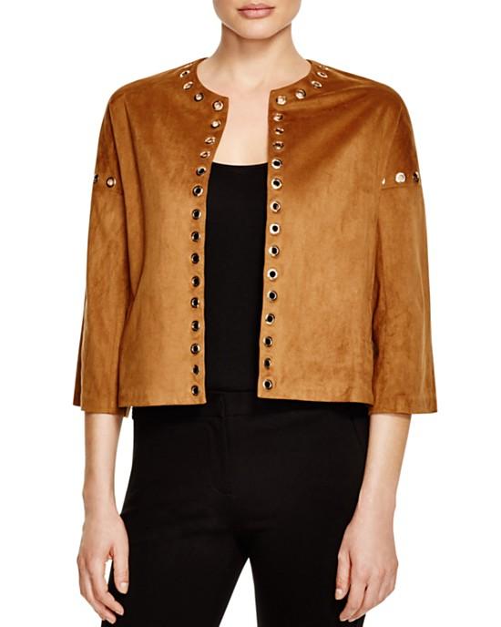 Vero Moda Grommet Embellished Faux Suede Jacket