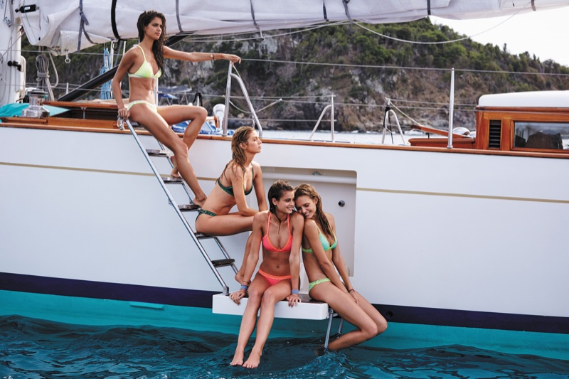 Victoria's Secret Angels pose in St. Barth for part 3 of VS Swim 2016 catalog