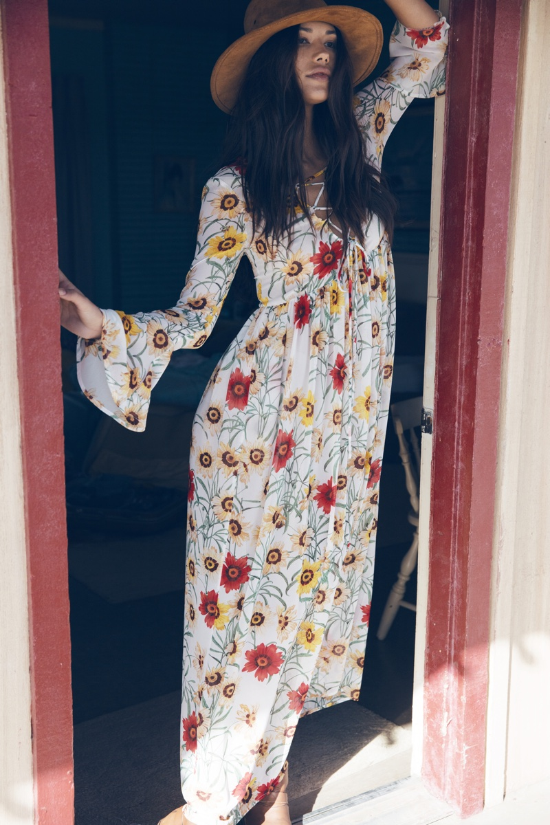 Wildfox features a bohemian inspired maxi dress in its summer 2016 collection