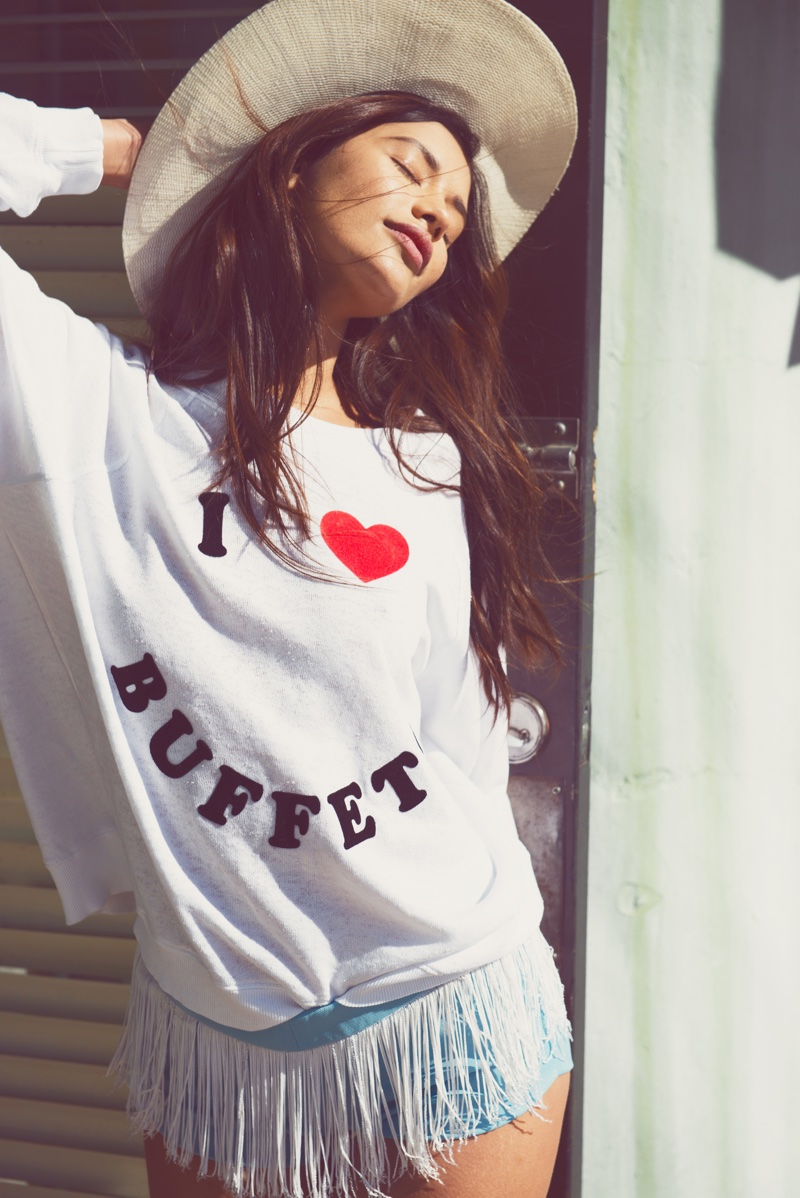 Get ready for a stylish buffet in this Wildfox sweater