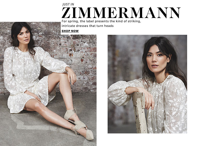 Zimmermann Master Embroidered Dress and Zimmermann Lace Up Pointed Flats