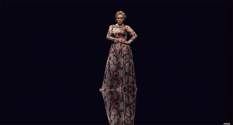 Adele wears Dolce & Gabbana dress in Send My Love music video