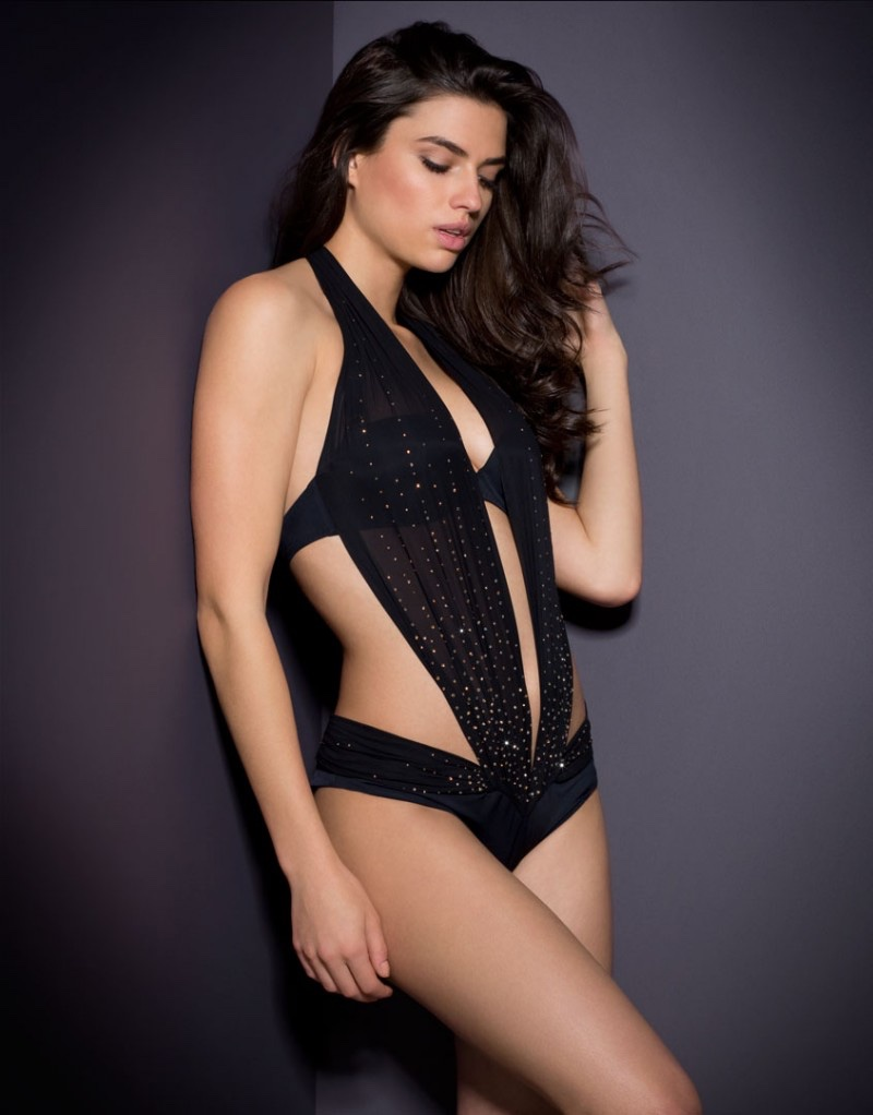 Agent Provocateur Lyssandra Crystal Embellished Swimsuit