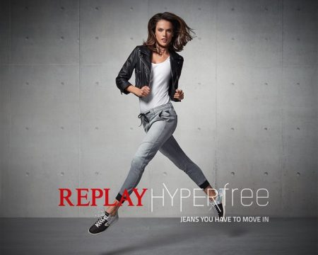 Alessandra Ambrosio shows off her moves in Replay Jeans Hyperflex 2016 campaign