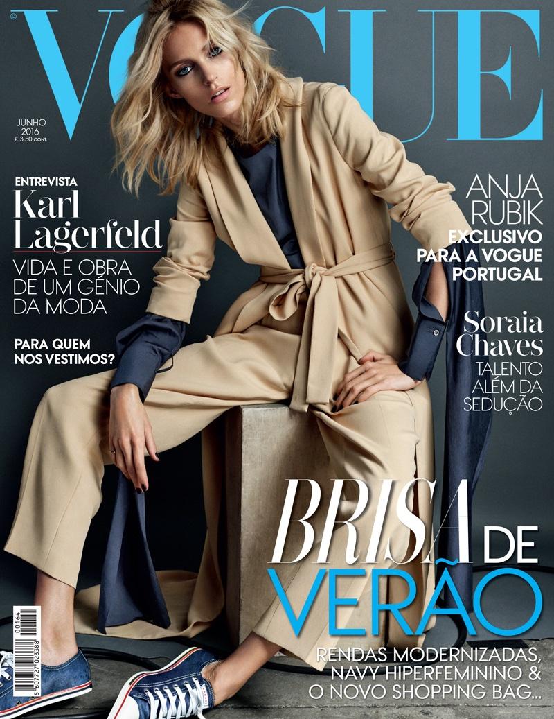 Anja Rubik on Vogue Portugal June 2016 Cover