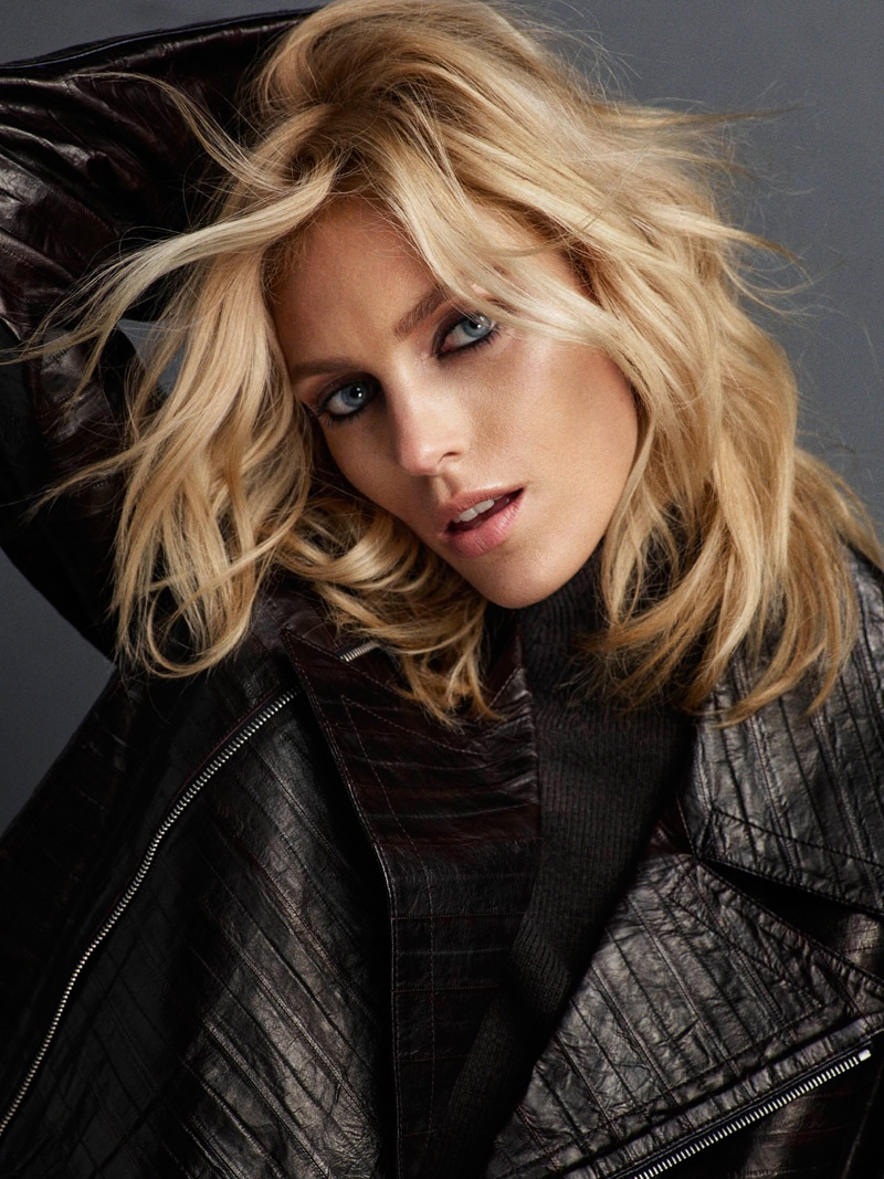 Anja Rubik Poses in Casual Looks for Vogue Portugal Cover ...