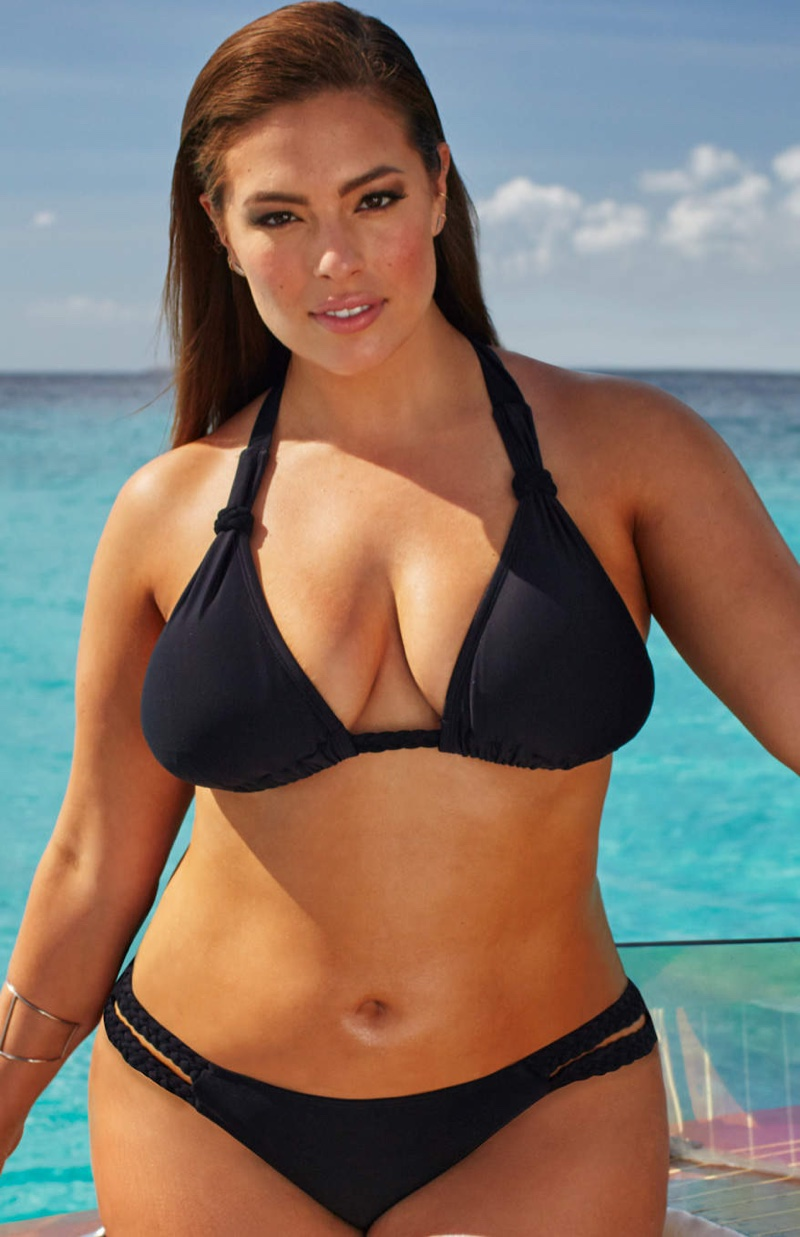 Ashley Graham x Swimsuitsforall Stakeout Swimsuit   Ashley Graham x  Swimsuitsforall Double Cross Black Bikini. Ashley Graham Swimsuitsforall Plus Size Collection Shop