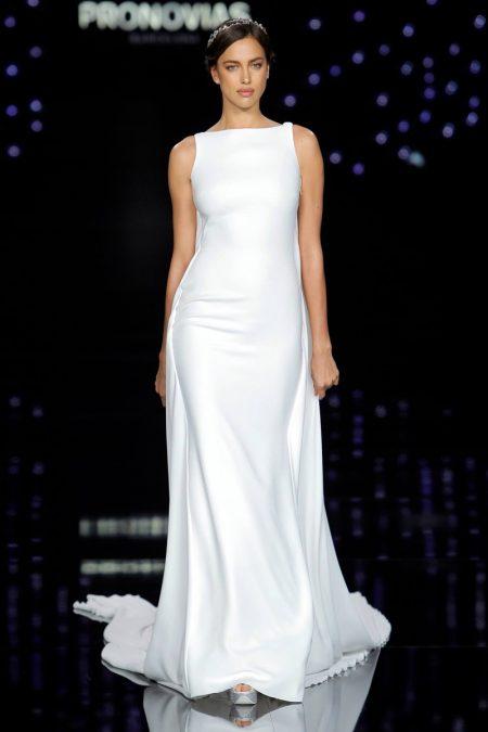 Irina Shayk Hits the Catwalk at the Pronovias Bridal Fashion Show