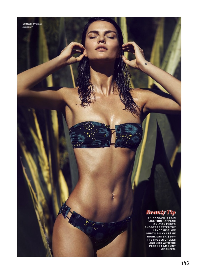 Barbara Fialho Wears Summer's Hottest Styles in Cosmopolitan UK