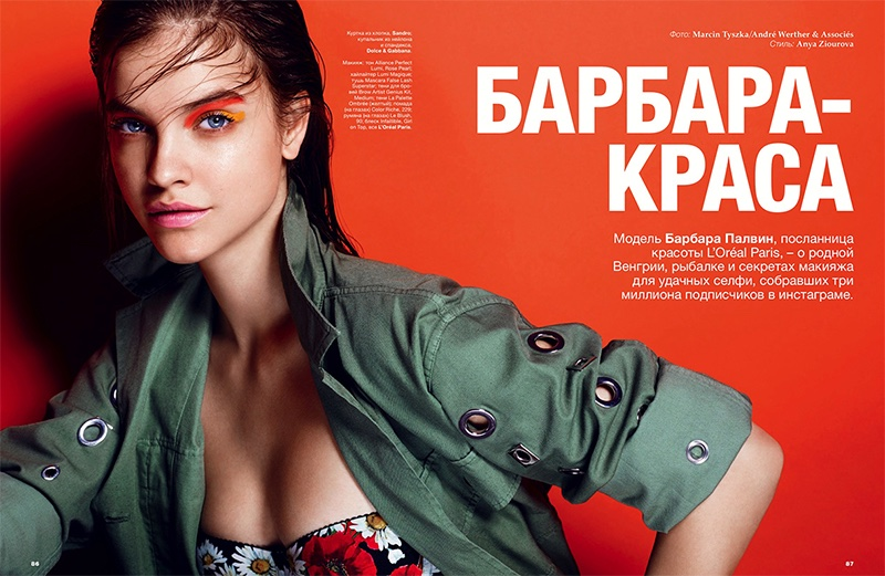 Barbara Palvin models bold makeup looks from L'Oreal Paris for the beauty editorial