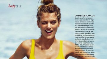 Bregje Heinen Models Colorful Swimsuit Style for ELLE Spain