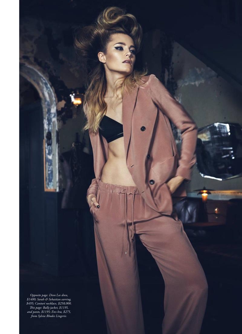 Bridget Malcolm stars in Harper's Bazaar Australia's April issue