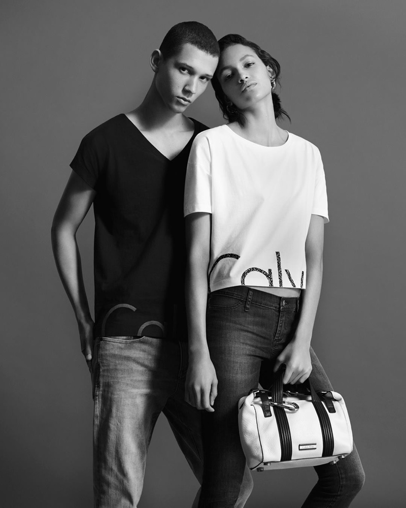 Abiah Hostvedt and Hanne Linhares star in Calvin Klein Jeans spring 2016 denim