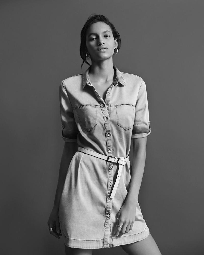 Hanne Linhares models Calvin Klein Jeans spring-summer 2016 collection