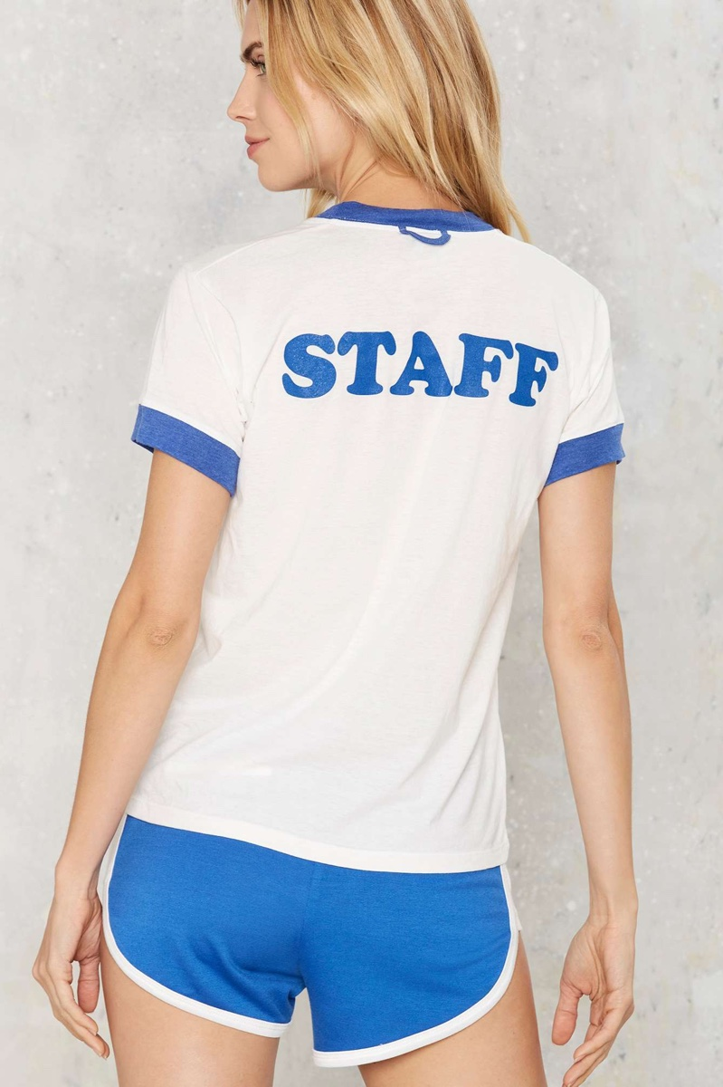 Camp Staff Ringer Graphic Tee
