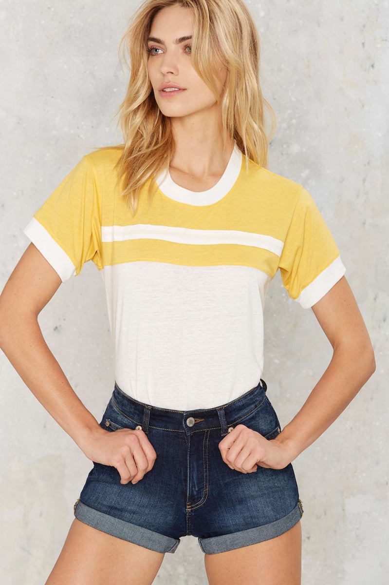 Camp Stripe Ringer Tee