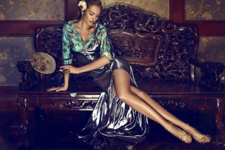 Candice Swanepoel Smolders in Femina China Cover Story