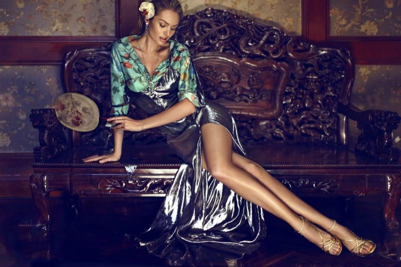 Candice Swanepoel Smolders in Femina China Cover Story