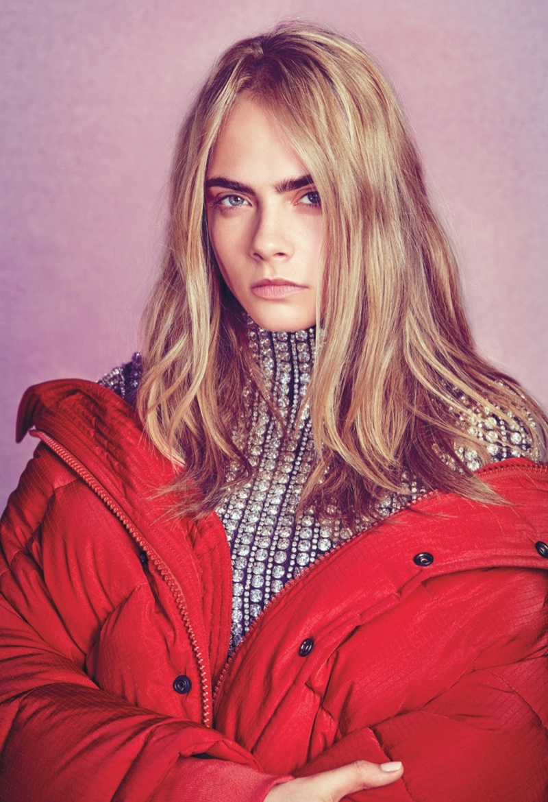 Cara Delevingne gets covered up in Balenciaga coat and sweater