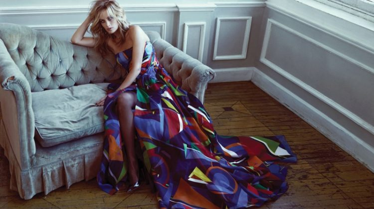 Carolyn Murphy Looks Elegant in Ralph Lauren for Vogue Korea