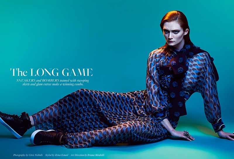 Sophie Touchet stars in FASHION Magazine's May issue
