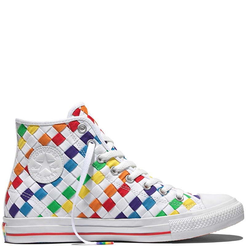 e788521dca54 Converse Chuck Taylor All Star Pride Rainbow Checkered High Tops