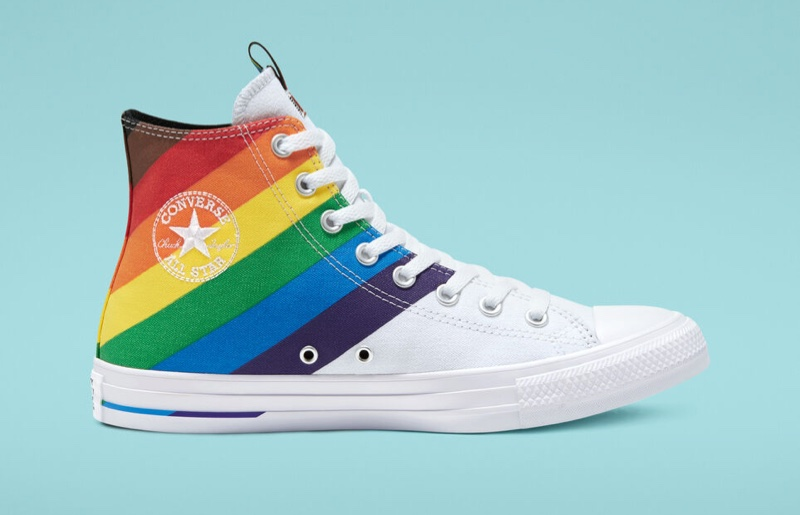 Converse Pride Chuck Taylor All Star Rainbow Sneaker in White $65