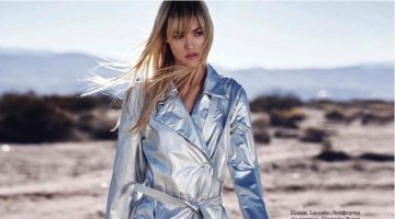Cora Keegan Models the New Metallics for ELLE Russia Editorial