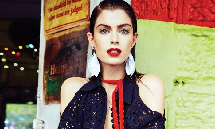 Pamela Bernier Models Chic Tropical Style for ELLE Canada