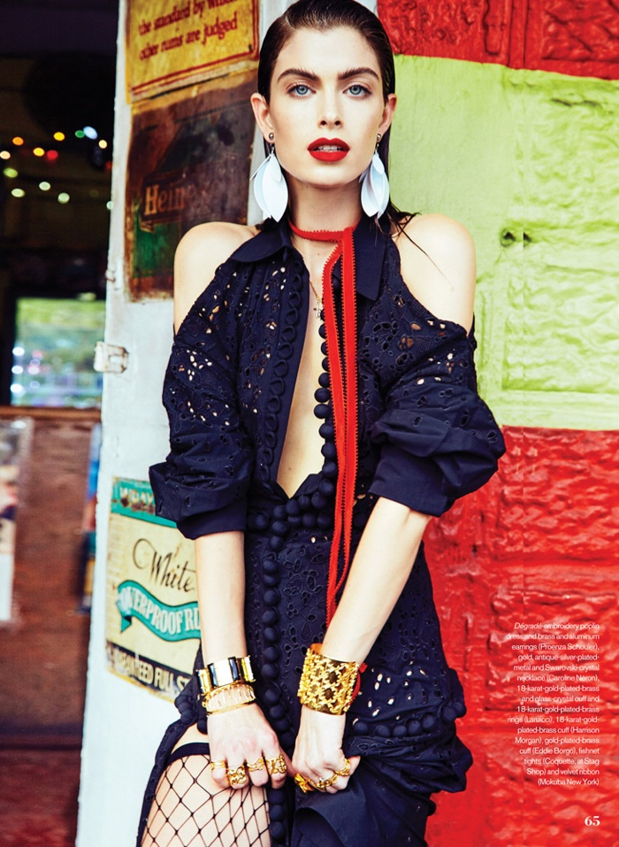 Pamela Bernier Models Chic Tropical Style for ELLE Canada