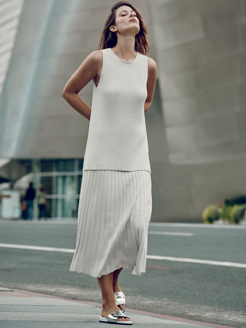 A look from Eileen Fisher's spring 2016 collection. Photo: Saks Fifth Avenue
