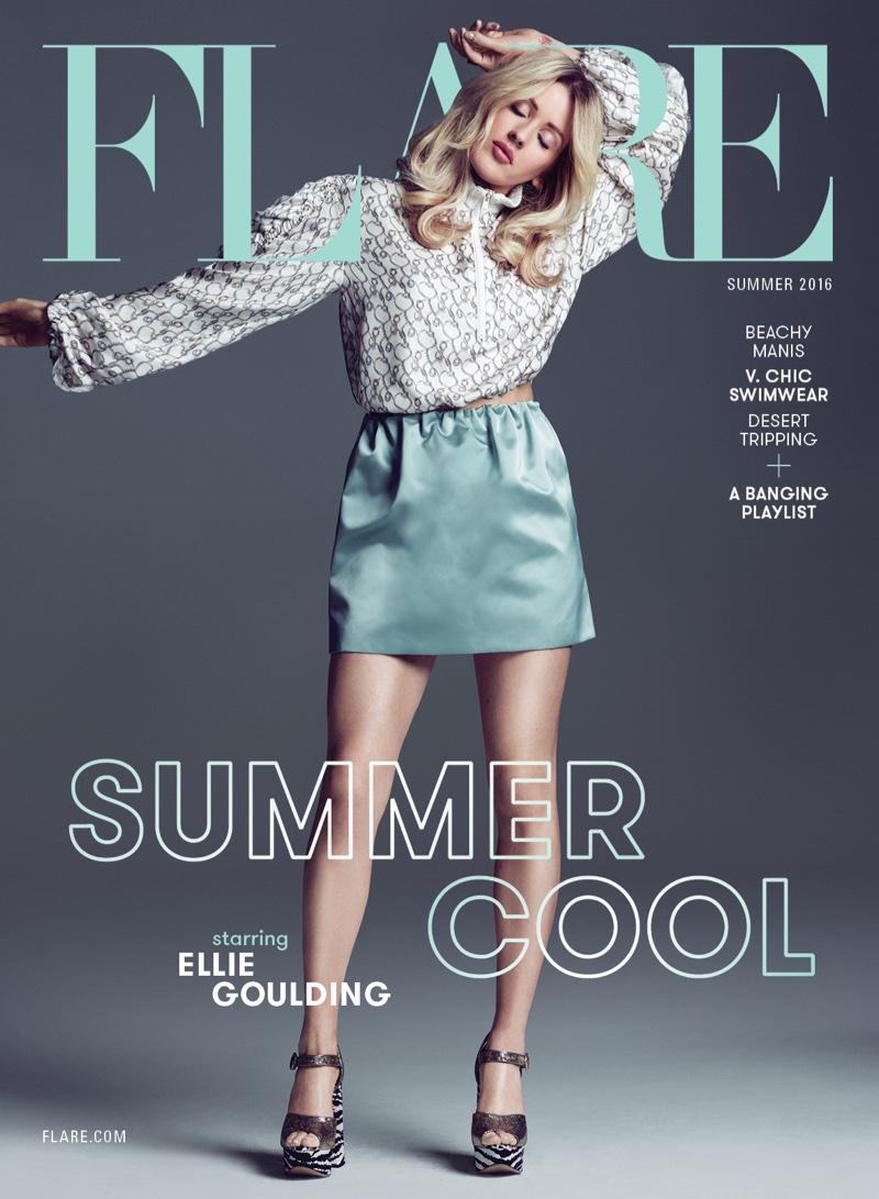 Ellie Goulding on Flare Magazine Summer 2016 Cover
