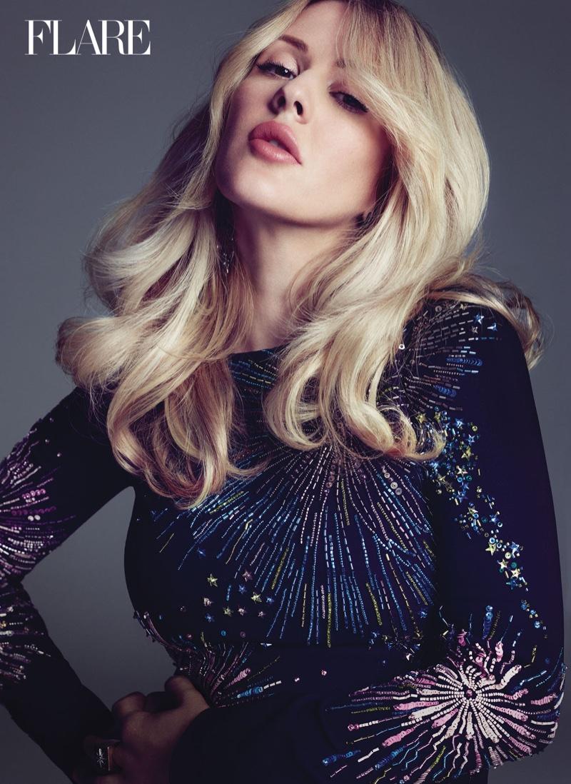 Ellie Goulding poses for FLARE Magazine's Summer issue. Photo: Nino Munoz