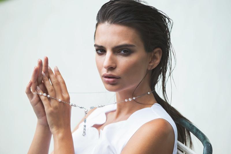 Emily Ratajkowski Stars in ES Magazine, Talks Topless Selfie with Kim Kardashian