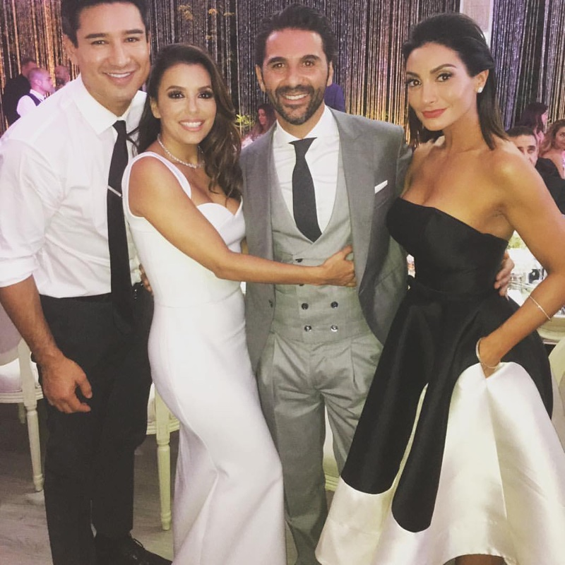 Photo Instagram Eva Longoria Poses With Husband José Bastón In A Victoria Beckham Wedding Dress