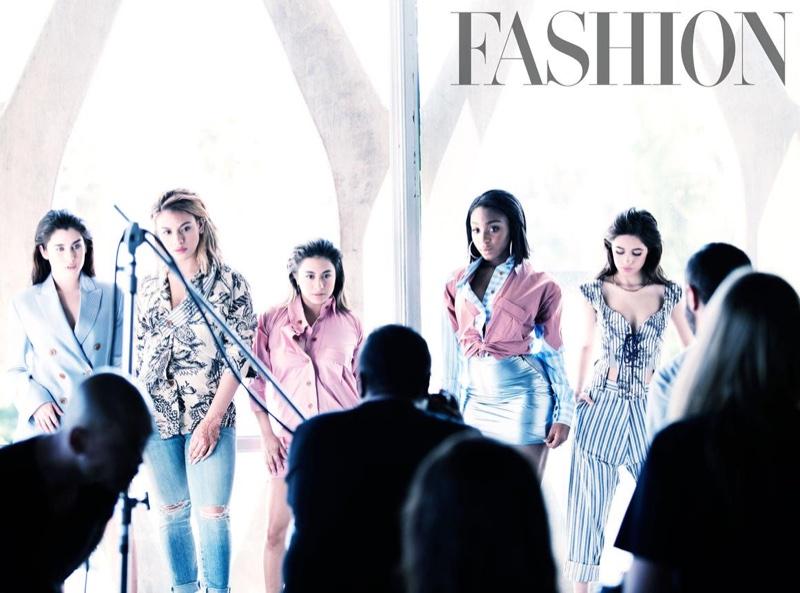 Fifth Harmony behind the scenes on Fashion Magazine photoshoot