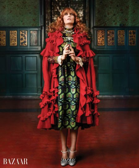 Florence Welch Goes Baroque in Gucci for BAZAAR Shoot