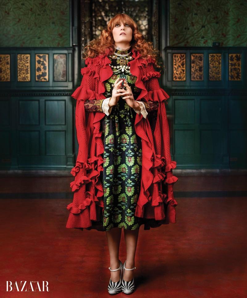 Florence Welch stars in Harper's Bazaar's June-July 2016 photoshoot