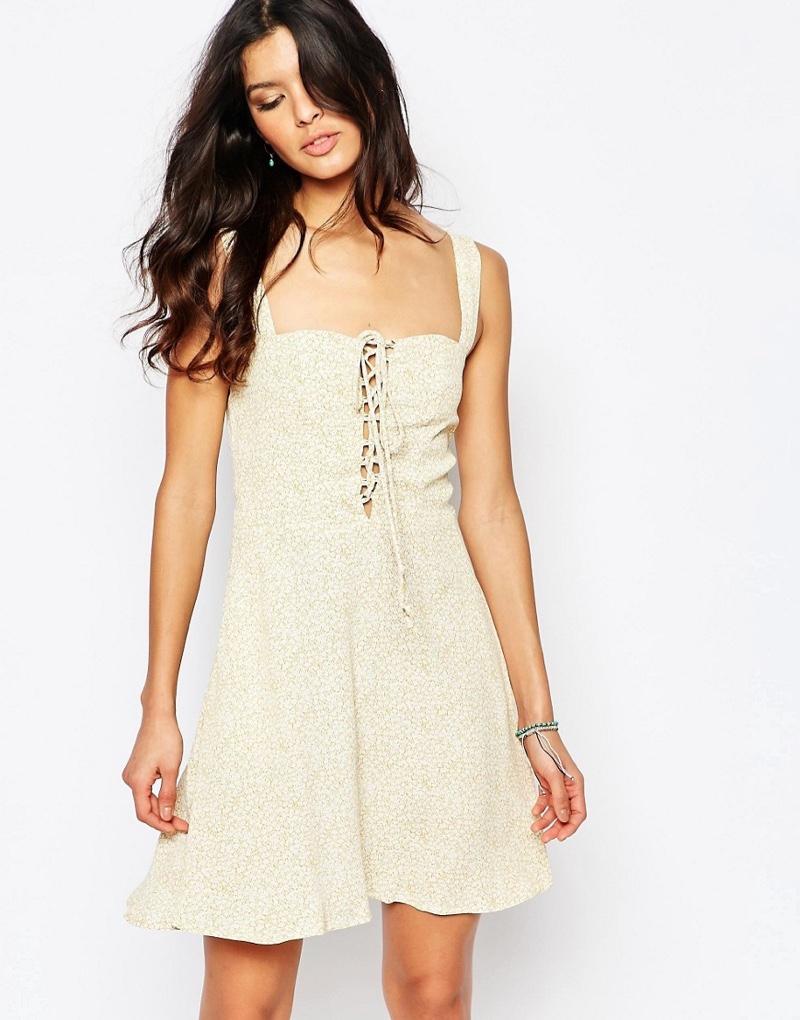 Flynn Skye Leila Lace-up Mini Dress