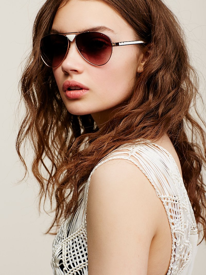 Free People Funk Soul Aviator Sunglasses