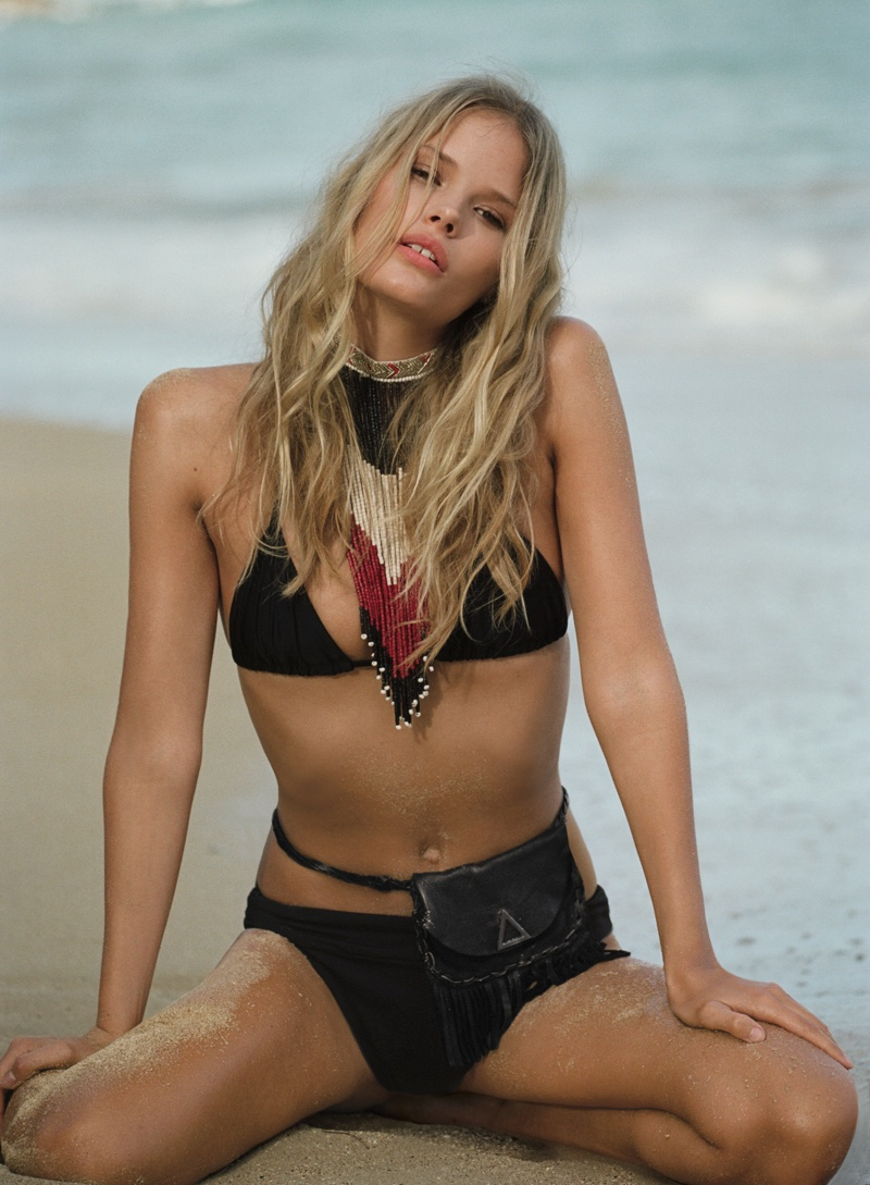 Free People x Beach Riot Simply Triangle Top, Free People Oliver Bikini Bottom